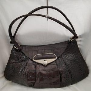 B8,735 Furla Croc Embossed Shoulder Bag Leather